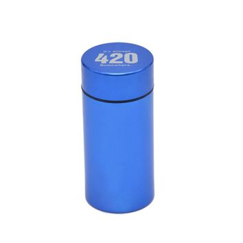 Aluminum Stash Jar Waterproof Rubber Airtight Herb/Tobacco Smell Proof Container Storage Stash Can