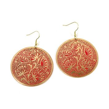 Padma Earrings - Scarlet - Matr Boomie (Jewelry)