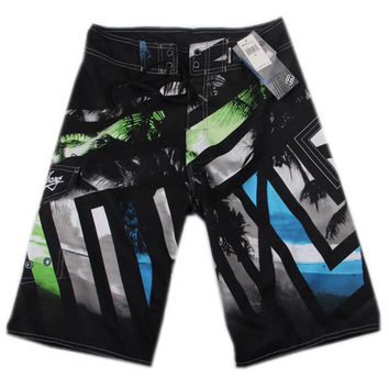 Mens Swim Trunks Surfing Shorts Loose Boardshorts for Sport 34'' Black