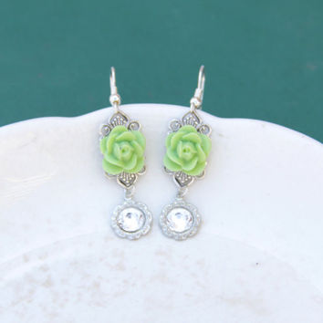 Romantic Rose Filigree Earrings