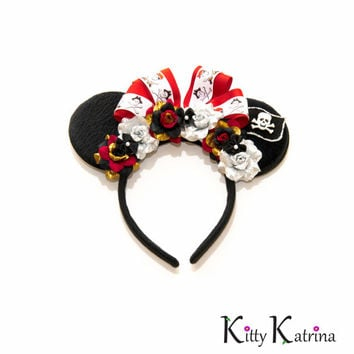 Pirates of the Caribbean Disney Ears Headband, Minnie Mouse Ears, Mickey Mouse Ears, Disney Crown, Disney Bound, Disneyland, Disney Cruise