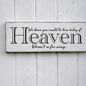 Here Today Wedding Sign