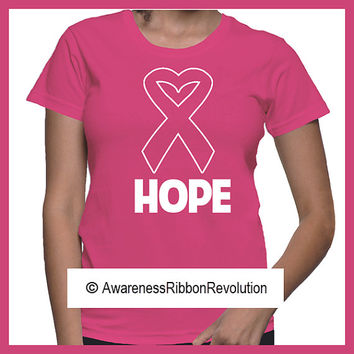 Breast Cancer Hope Ribbon Shirts