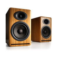 Audioengine: P4 Passive Bookshelf Speakers - Bamboo (AP4N)