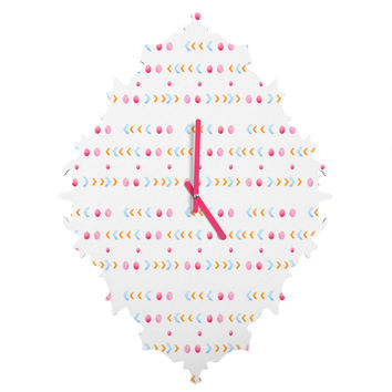 Laura Redburn Dot Dot Chevron Baroque Clock