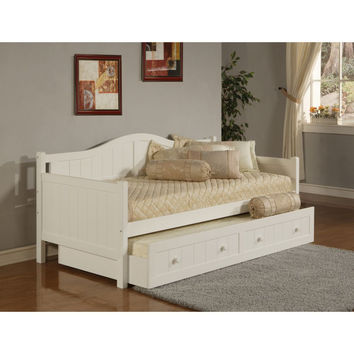 1525DBT Staci Daybed w/Trundle - White