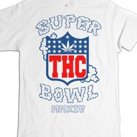 White T-Shirt | Funny Football Weed Shirts
