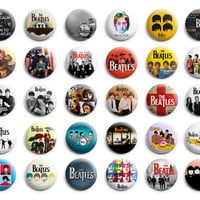 The Beatles Theme Party favor pins buttons badges 30 pcs