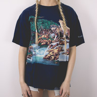 Vintage Wolf Pack River T Shirt