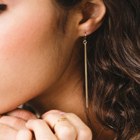 Classic Long Bar Earrings