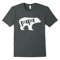 Men's Papa Bear Distressed T-Shirt Father's Day Gifts for Dad