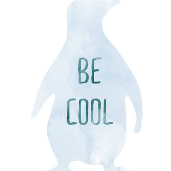 Be cool print by vaporqualquer on Etsy
