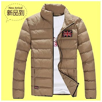 Winter Men Jacket 2018 Brand Casual New Printing Mens Jackets And Coats Thick Parka Men Outwear 4XL