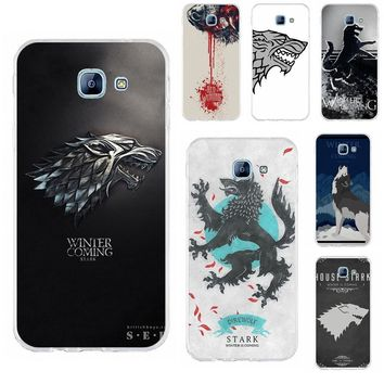 Perciron Soft TPU Case Cover For Samsung Galaxy A3 A5 A7 J1 J2 J3 J5 J7 2015 2016 2017 Games Of Thrones House Stark White Wolf