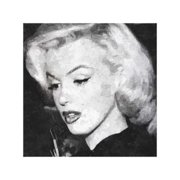 Vintage Chic Women Marilyn Monroe Single Canvas Canvas Print