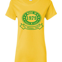 Made In 1979 With All Original Parts Great 35Th Birthday Celebration T Shirt Great Gift For 35TH Birthday Made In 1979