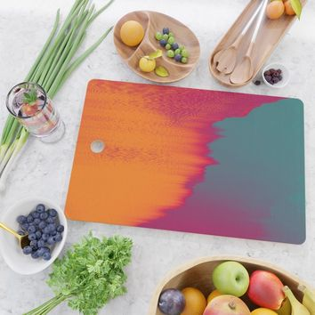 Solar Flare Cutting Board by duckyb