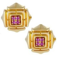 Cartier Gold Ruby Earrings