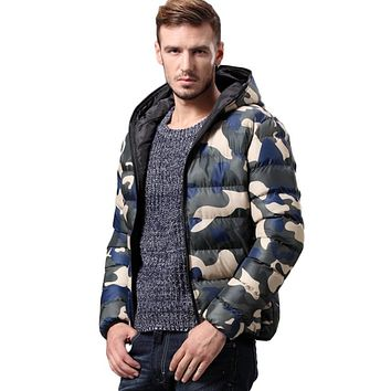 High Quality Thicken Winter Cotton Jacket Parkas Men Clothing Casual Camo Warm Hooded Jackets And Coats For Men's Winter Jacket