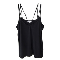 Cami NYC Aria Double Strap Tank in Black | Les Pommettes