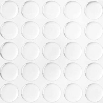 """Lot 300 1"""" Dome Circle Clear Epoxy Stickers for Bottle Cap Crafts 2MM THICKNESS"""