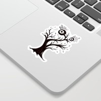 Excited Tree Monster Ink Drawing Sticker by borianagiormova
