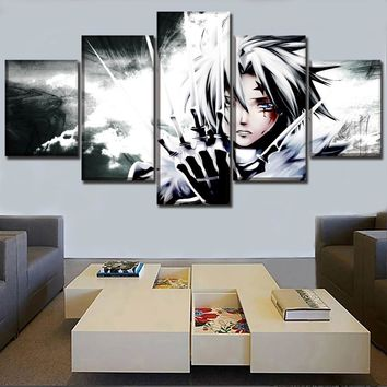 Canvas HD Prints Poster Living Room Wall Art Pictures 5 Pieces D Gray Man Anime Allen Walker Paintings Home Decor Framework
