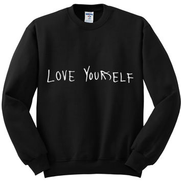 "Justin Bieber ""Love Yourself"" Crewneck Sweatshirt"