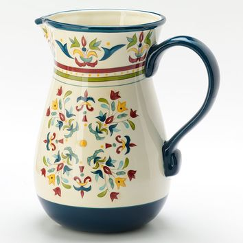 Bobby Flay Home Sevilla Blue Pitcher
