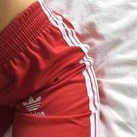 Adidas Women Loose Exercise Sport Pants Trousers Sweatpants2