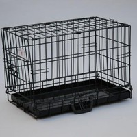 "BestPet 20"" Black Dog Crate Cat Cage Kennel Dog House Metal Pan"
