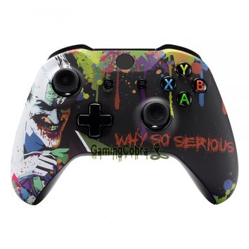 Custom Joker Soft Touch Grip Front Housing Shell Faceplate for Xbox One S & for Xbox One X Controller - SXOFT14X