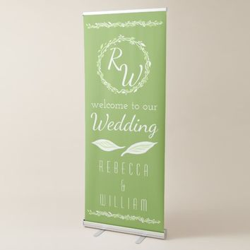 Rustic Greenery | Wedding Vine Botanical Welcome Retractable Banner