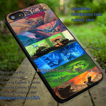 Harry Potter Illustration Books Cover Collage iPhone 6s 6 6s+ 5c 5s Cases Samsung Galaxy s5 s6 Edge+ NOTE 5 4 3 #movie #HarryPotter dt