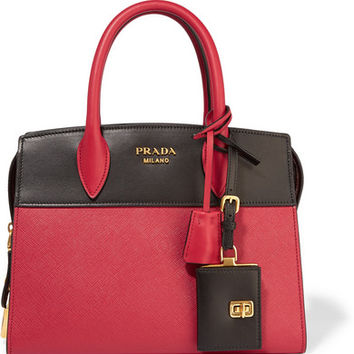 Prada - Esplanade small two-tone textured-leather tote