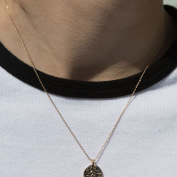 Gold Coin Necklace - Accessories