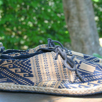 Vegan Mens Shoes Lace Up Oxfords In Tan and Black Isaan Textiles - Matt