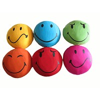 Tache Red Blue Green Yellow Fuchsia Orange Happy Sad Serious Face Bunch of Smiles Micro Bead Pillow