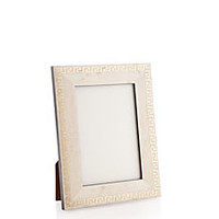 Greek Key Frame, 4x6, White