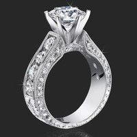 Engagement Rings -  2.00 ctw. 14K Gold Diamond Engagement Ring