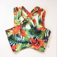 Tropical Bralette Top
