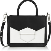 Karl Lagerfeld Khic two-tone leather shoulder bag – 50% at THE OUTNET.COM