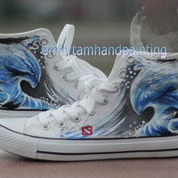 Morphling Inspired Custom Converse Sneakers 100% Hand Paint