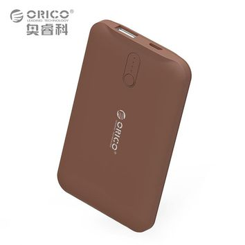 ORICO 2500mAh Power Bank Portable Mobile Phone Charger Powerbank for Smart Phones External Battery Brown / White / Pink
