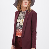 LOVE 21 Open-Front Shawl Lapel Blazer