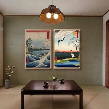 Japanese Prints Wall Art Canvas Painting Posters Wall Pictures For Living Room Poster Japanese Traditional Decoration Pictures