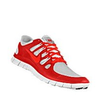 Nike Free 5.0 Shield iD Custom Women's Running Shoes - Red