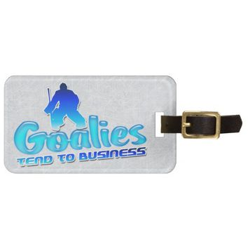 Customize Your Own Hockey Goalie Luggage Tag