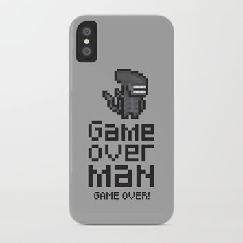 Game over man - Alien iPhone Case by g-man