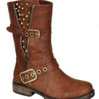 Amazon.com: Rocker-17, tan, women's riding boot, R2, size: Shoes